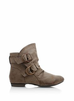 Leather Square Toe Slouch Ankle Boots (821547X56) | £55 | Fashion ...