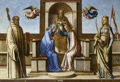 Lazzaro Bastiani - Incoronazione di Maria Vergine tra San Bernardo e Sant'Orsola, 1490. Accademia Carrara di Bergamo Pinacoteca.