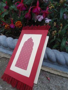 Carte tapis de prière à la main 148 x 105 cm avec   Etsy Diy Eid Cards, Ramadan Cards, Eid Crafts, Paper Crafts, Diy For Kids, Gifts For Kids, Eid Mubarak Card, Small Business Cards, Ramadan Activities