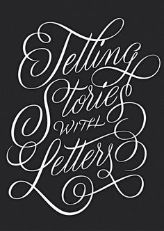 Telling Stories with Letters on Behance