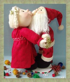 - Felt Christmas Decorations, Christmas Crafts, Christmas Ornaments, Holiday Decor, Santa, Home Decor, House, Fabric Dolls, Father Christmas