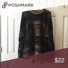 """Vintage brown sweater Size x large, measures 27"""" under arms, 28"""" in length. Vintage Sweaters"""