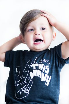 I Am This Many Kids Shirt - One Two Three Four Fingers - Boys Birthday Shirt - Girls Funny Birthday Shirt - Baby & Toddler - I'm This Many
