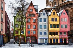 travelingcolors:    Colored houses, Cologne | Germany (by Maxim Solodov)