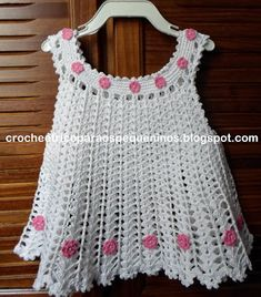 CROCHE E TRICO PARA OS PEQUENINOS: Vestidinho de crochê para bebe com receita delivers online tools that help you to stay in control of your personal information and protect your online privacy. Crochet Girls Dress Pattern, Black Crochet Dress, Baby Girl Crochet, Crochet Baby Clothes, Crochet For Kids, Knit Crochet, Crochet Patterns, Crochet Princess, Beautiful Crochet