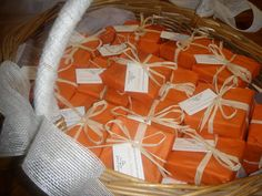 Jabones elaborados para la boda de David y Barbara
