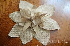 Burlap Flower DIY
