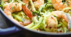 Terça-feira: Massa de courgette com miolo de camarão e manjericão (200 calorias) - NiT