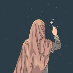 slamic anime ve tesett r Cartoon Wallpaper, Cute Wallpaper Backgrounds, Cute Wallpapers, Girl Cartoon, Cartoon Art, Cute Cartoon, Muslim Pictures, Hijab Drawing, Army Drawing