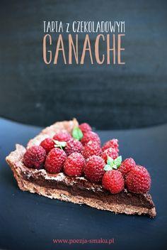 Tarta z czekoladowym ganache (Tart with chocolate ganache - recipe in Polish)