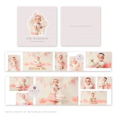 My First Birthday Mini Accordion Album  - available through Jen Boutet Photography with your portrait session - in Charlottesville, Va
