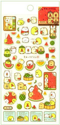 San-x Sumikko Gurashi Watermelon Sticker Sheet