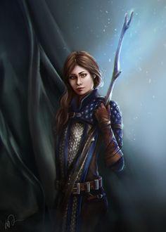 Dragon Age Trio, Lucia Dzediti on ArtStation at https://www.artstation.com/artwork/xoBA2