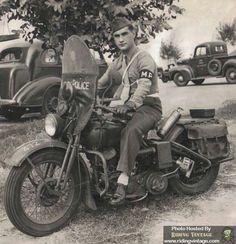 H-D WLA 45 Military police bike