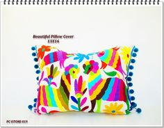 Otomi Pillow Cover, Mexican Otomi Pillow Cover 13x16, Pillow Cover Aztec  Home Decor,