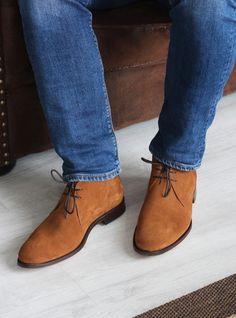 Vintage Homme en Daim Bottines Désert 2017 Enfiler Loisirs Plates Chaussures Chelsea Hot