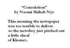 A Poem by Naomi Shihab Nye