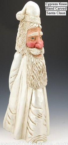 cypress knee carved santa (LOVE ♥ )
