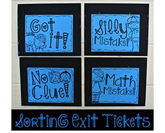 Student led sorting of exit tickets helps you easily know how to differentiate lessons based on student needs. Grab this freebie and/or printable to start using exit tickets in your class! Sorting Kindergarten, Kindergarten Journals, Math Journals, Teaching Special Education, Elementary Teaching, Upper Elementary, Physical Education, Exit Tickets, Bar Graphs