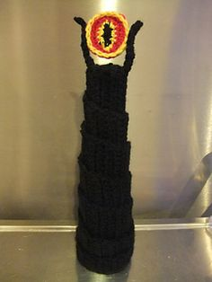 Eye of Sauron (Lord of the Rings) crochet decoration.