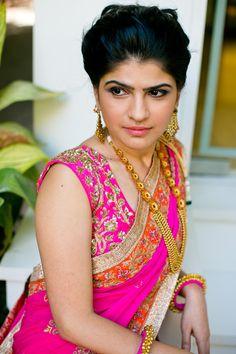 Bright Pink saree #saree #sari #blouse #indian #outfit #shaadi #bridal #fashion #style #desi #designer #wedding #gorgeous #beautiful