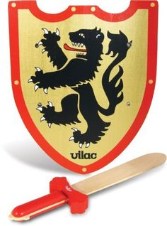 Vilac Lion Wooden Shield and Sword by Vilac