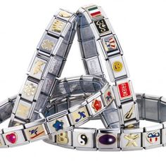 Italian charm bracelets. I remember when these were MAJOR. I had the equivalent of, like, 3 or 4.