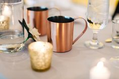#stylisheventsbylisa #wedding #reception #sweethearttable #copper #moscowmules #specialitycocktail #drinks #thehoskinsphoto