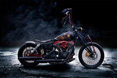 Harley Davidson Dyna Street Bob Custom Dark Duster Ad Image