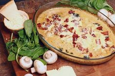 Chicken Florentine Casserole is an easy dinner recipe includes tender chicken breasts smothered in a creamy white sauce with spinach and mushrooms that make it a perfect pair with your choice of pasta. The crispy crumbled bacon and melted mozzarella cheese on top seals the deal for this mouthwatering meal.