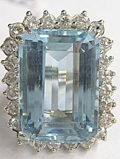 DIAMOND-AQUAMARINE RING...what can I say, its my birthstone.