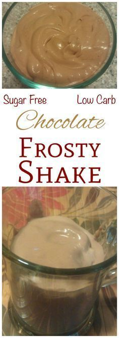 CREAMY LOW CARB CHOCOLATE FROSTY SHAKE This is a really quick and easy way to make a frozen thick chocolate shake at home. The creamy low carb chocolate frosty shake is a must for low carb diets. Low Carb Diets, High Carb Foods, Low Fat Low Carb, Low Gi, Low Carb Shakes, Keto Shakes, Diabetic Shakes, Keto Protein Shakes, Keto Protein Powder