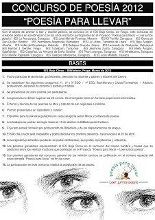 Biblioteca del IES Bajo Cinca: Poesía para llevar 2011-2012
