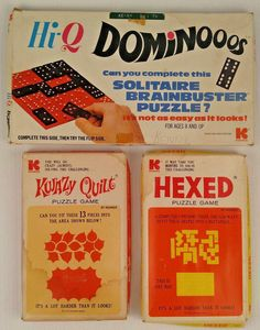 Kwazy Quilt Hexed Puzzle Games Hi Q Dominooos Dominoes Kohner Vintage Parts Lot #Kohner