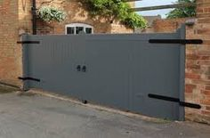 Driveway Gates from George Walker Limited Backyard Gates, Garden Gates And Fencing, Fence Gate, Fence Panels, Front Gates, Entrance Gates, Drive Gates, Diy Driveway, Outdoor Paving
