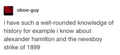 Well I know about Hamilton but next year I'm seeing Newsies so I'll know about that soon :)