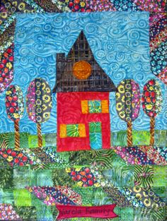 Welcome Home by Jamie Fingal | The House Quilt Project for Habitat for Humanity