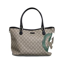 GUCCI Unicef GG Italian Flag Canvas/Leather Tote Bag Limited Edition