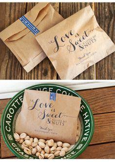 Love is Nuts!! Wedding Favor Bag by mavora