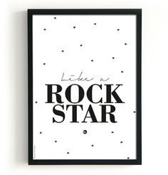 Like a rock star #poster 50x70 by The birds & the bees #Kidsroom from http://www.kidsdinge.com   https://www.facebook.com/pages/kidsdingecom-Origineel-speelgoed-hebbedingen-voor-hippe-kids/160122710686387?sk=wall     http://instagram.com/kidsdinge