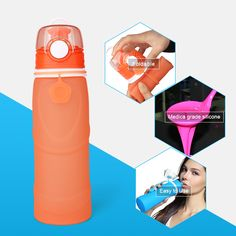 wide mouth collapsible water bottle easy to use