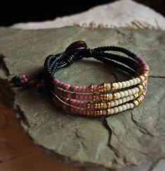 4-Strand Leather Wrap Bracelet made by GratefulBeadBoutique sold on etsy.com