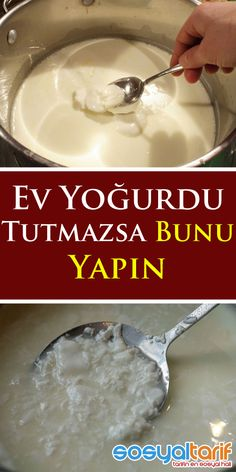 Ev Yoğurdu Tutmazsa Bunu Yapın is part of pizza - pizza Cooking Tips, Cooking Recipes, Natural Kitchen, Comfort Food, Turkish Recipes, Frozen Yogurt, Cocktail Recipes, Food Art, Meal Planning