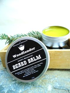 Best Beard Balm-Gift for Him-Gift For Dad-Beard Care-All Natural-Vegan-Beard Grooming-Natural Beard Balm-Paraben Free-Beard Products by DriadesNatural on Etsy