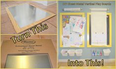 Logic and Laughter: DIY Magnetic Chalkboards for a Play Room and Vertical Work Surfaces for Children