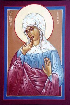 Righteous St Sarah | Heilige Sara / Icons | Pinterest
