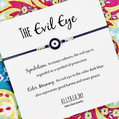 Blue Enamel Evil Eye Bracelet With Card By Allyriasky Ring