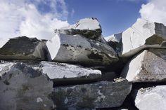 Soapstone slabs in Juuka.
