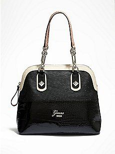 Annez Dome Satchel from Guess - Fashionable and functional, this dome satchel is the epitome of uptown chic. Guess Purses, Guess Bags, Guess Handbags, Purses And Handbags, Handbags 2014, Leather Handbags, Tote Backpack, Beaded Purses, Fashion Bags