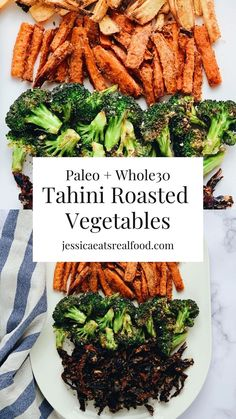 This simple recipe will transform any vegetable from boring   bland into absolutely addicting! Made with only 3 essential, real food ingredients, these Tahini Roasted Vegetables will transform the way you see (and eat) healthy food.  #paleorecipes #vegetables #sidedish #whole30 #paleo #whole30recipes #tahini
